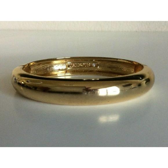 "Talbots Clamper Bracelet Gold Tone Bangle 7.25"""
